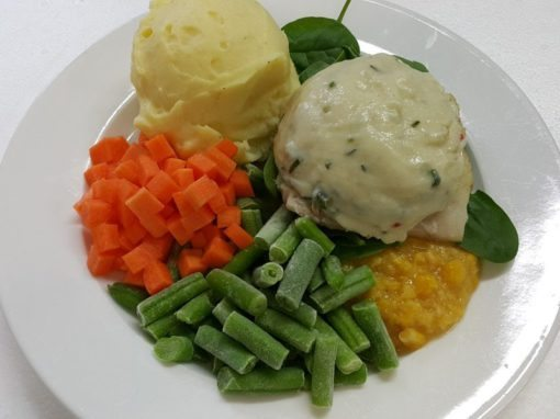 Fish Fillet with White Sauce Plated